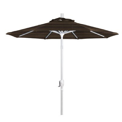7.5 Market Umbrella Frame Finish: Matte White, Color: Terrace Fern
