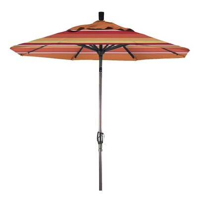 7.5 Market Umbrella Color: Dolce Mango, Frame Finish: Matte White
