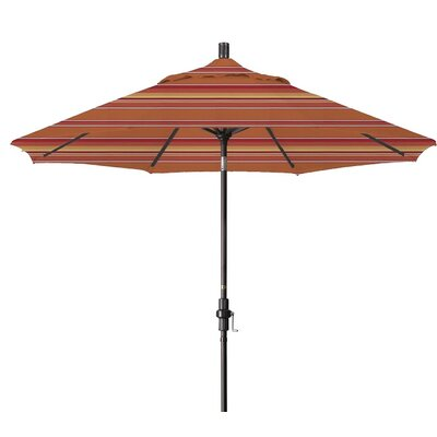 9 Market Umbrella Color: Dolce Mango, Frame Finish: Matted White