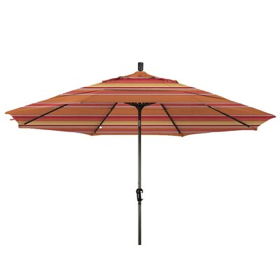 11 Market Umbrella Color: Dolce Mango, Frame Finish: Bronze