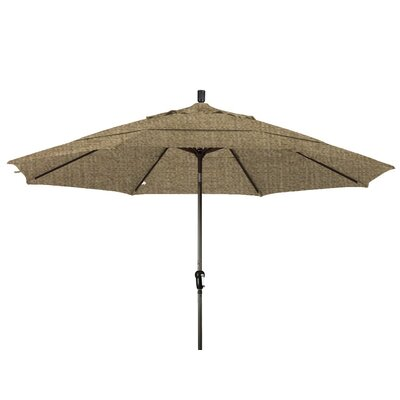 11 Market Umbrella Color: Woven Sesame, Frame Finish: Bronze