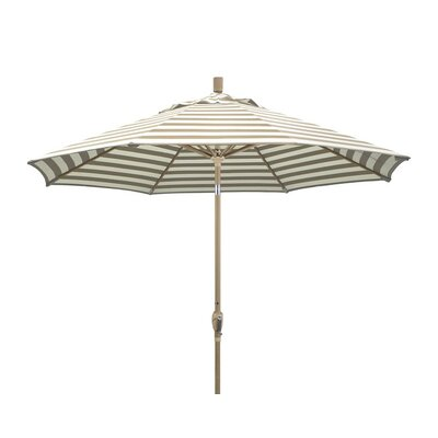 9' Market Umbrella Frame Color: Champagne, Fabric Color: Beige White Cabana Stripe GSPT908900-F94