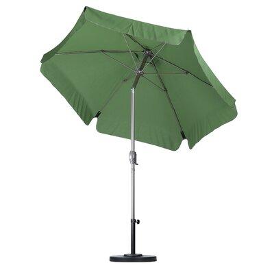 7.5 Drape Umbrella Fabric: Spun Polyester Green Palm