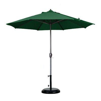 9 Market Umbrella Fabric: Olefin - Hunter Green, Frame Finish: Bronze
