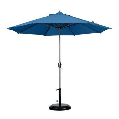 9 Market Umbrella Fabric: Olefin - Frost Blue, Frame Finish: Bronze