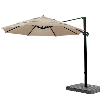 11 Cantilever Umbrella Fabric: Sunbrella-Camel