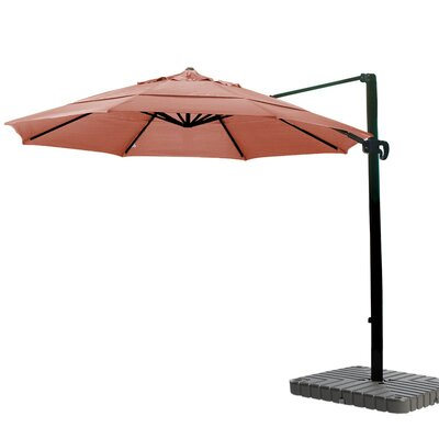 11 Cantilever Umbrella Fabric: Sunbrella AA Terracotta