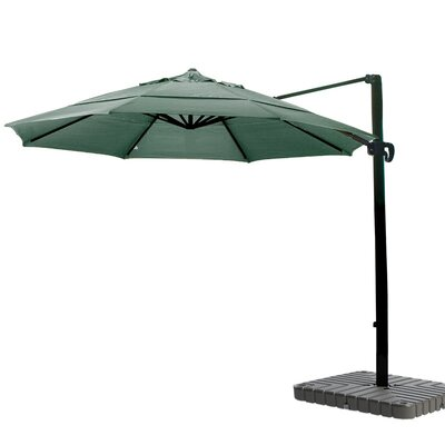 11 Cantilever Umbrella Fabric: Sunbrella A Forest Green
