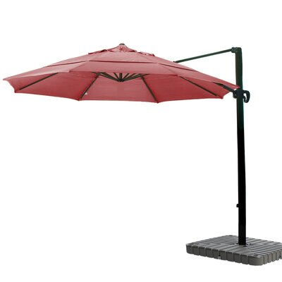 11 Cantilever Umbrella Fabric: Sunbrella AA Jockey Red