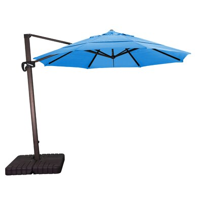 11 Cantilever Umbrella Fabric: Sunbrella A Pacific Blue