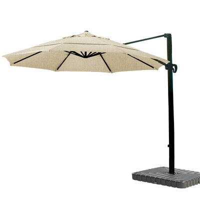 11 Cantilever Umbrella Fabric: Sunbrella-Heather Beige