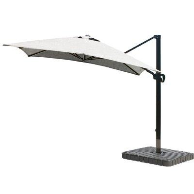 10 Square Cantilever Umbrella Fabric: Sunbrella - Granite, Frame Finish: Bronze