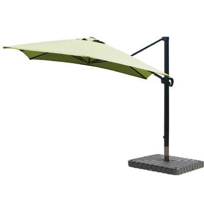 10 Square Cantilever Umbrella Fabric: Sunbrella - Macaw, Frame Finish: Bronze