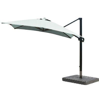 10 Square Cantilever Umbrella Fabric: Sunbrella - Spa, Frame Finish: Bronze