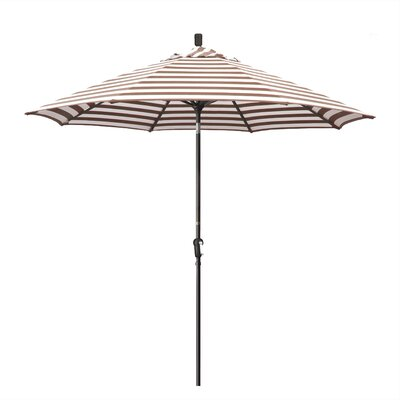 9' Market Umbrella Frame Finish: Bronze, Fabric: Woven Sesame SDAU908117-F76