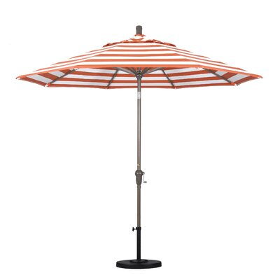 9' Market Umbrella Frame Finish: Champagne, Fabric: Flame