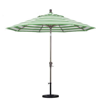 9' Market Umbrella Frame Finish: Champagne, Fabric: Emerald