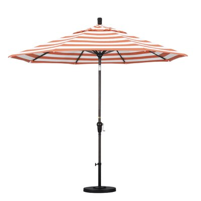 9 Market Umbrella Frame Finish: Bronze, Fabric: Flame