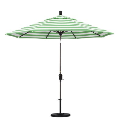 9 Market Umbrella Frame Finish: Bronze, Fabric: Emerald