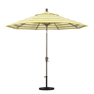 9 Market Umbrella Frame Finish: Champagne, Fabric: Citron