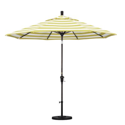 9 Market Umbrella Fabric: Citron, Frame Finish: Bronze
