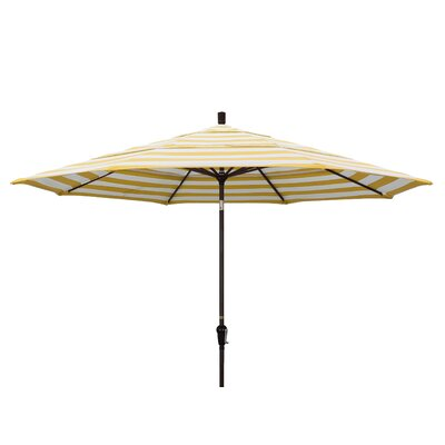 11 Market Umbrella Fabric: Citron, Frame Finish: Bronze