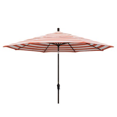 11' Market Umbrella Fabric: Flame, Frame Finish: Champagne