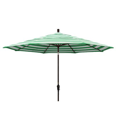 11' Market Umbrella Frame Finish: Bronze, Fabric: Emerald