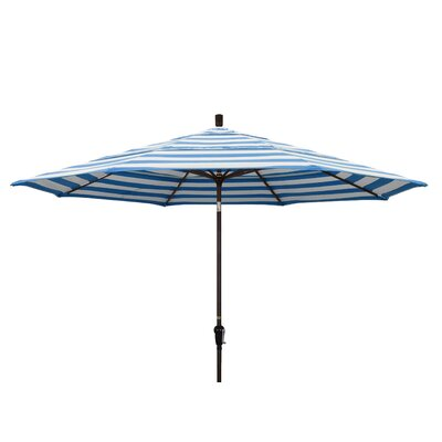 11' Market Umbrella Fabric: Regatta, Frame Finish: Champagne
