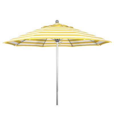 9 Market Umbrella Fabric: Citron, Frame Finish: Anodized