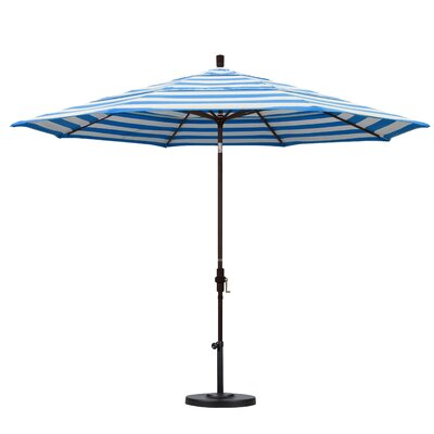 11 Market Umbrella Fabric: Flame, Frame Finish: Matted Black
