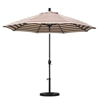 9' Market Umbrella Frame Finish: Bronze, Color: Brick White Cabana Stripe GSPT908117-F93