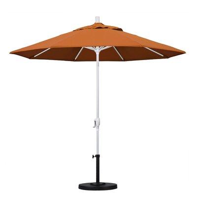 9 Market Umbrella Frame Finish: Matted White, Fabric: Tuscan