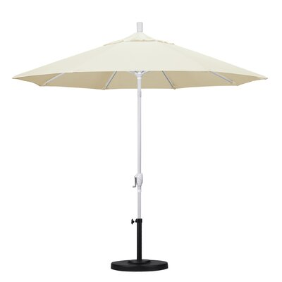9 Market Umbrella Fabric: Canvas, Frame Finish: Matted White
