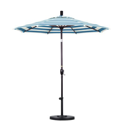 7.5 Market Umbrella Fabric: Citron, Frame Finish: Matted Black