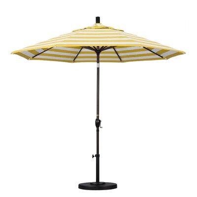 Furniture-9' Market Umbrella Fabric Citron, Frame Finish Bronze