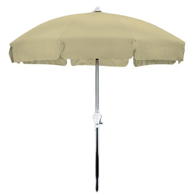 7.5 Drape Umbrella Finish: Anodized, Fabric: Olefin Royal Blue