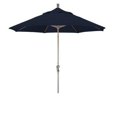9' Market Umbrella Fabric: Pacifica - Navy Blue, Frame Finish: Champagne SDAU908900-SA39