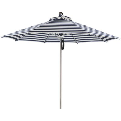 9 Luxy Series Market Umbrella Fabric: Olefin-Navy White