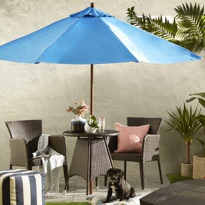 9 Market Umbrella Fabric: Polyester Pacific Blue