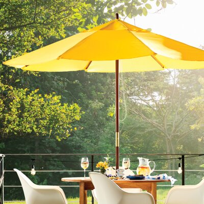 9 Market Umbrella Fabric: Polyester Yellow