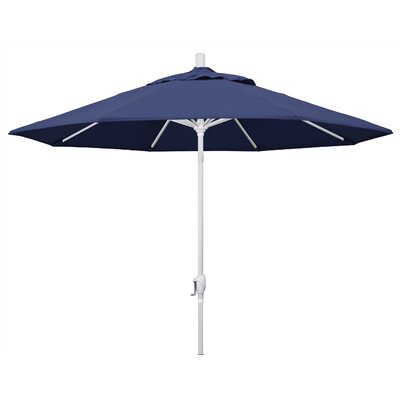 9 Market Umbrella Frame Finish: Matted White, Fabric: Navy Blue