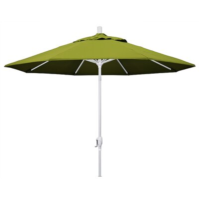 9 Market Umbrella Fabric: Kiwi, Frame Finish: Matted White