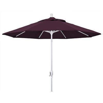 9 Market Umbrella Fabric: Purple, Frame Finish: Matted White