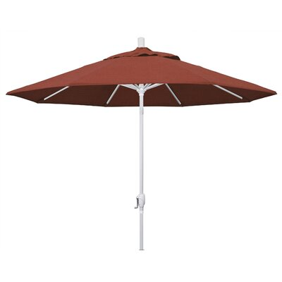 9 Market Umbrella Frame Finish: Matted White, Fabric: Terracotta