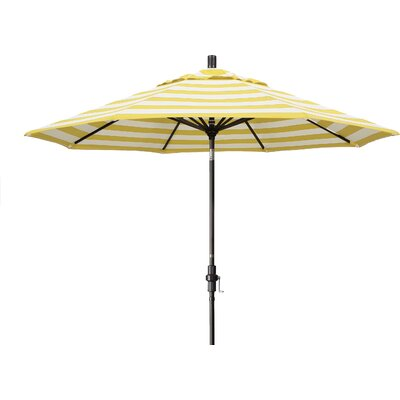 9 Market Umbrella Fabric: Citron, Frame Finish: Matted Black