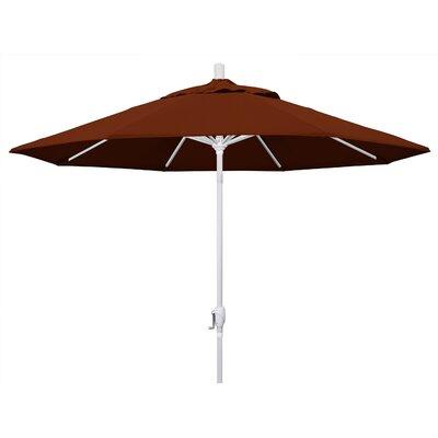 9 Market Umbrella Fabric: Brick, Frame Finish: Matted White