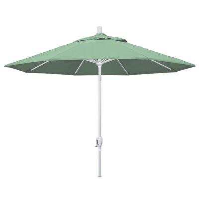 9 Market Umbrella Fabric: Spa, Frame Finish: Matted White