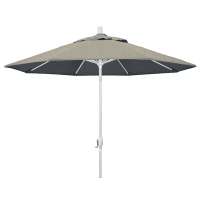 9 Market Umbrella Frame Finish: Matted White, Fabric: Sunbrella - Spectrum Dove