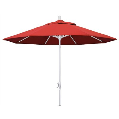 9 Market Umbrella Frame Finish: Matted White, Fabric: Red